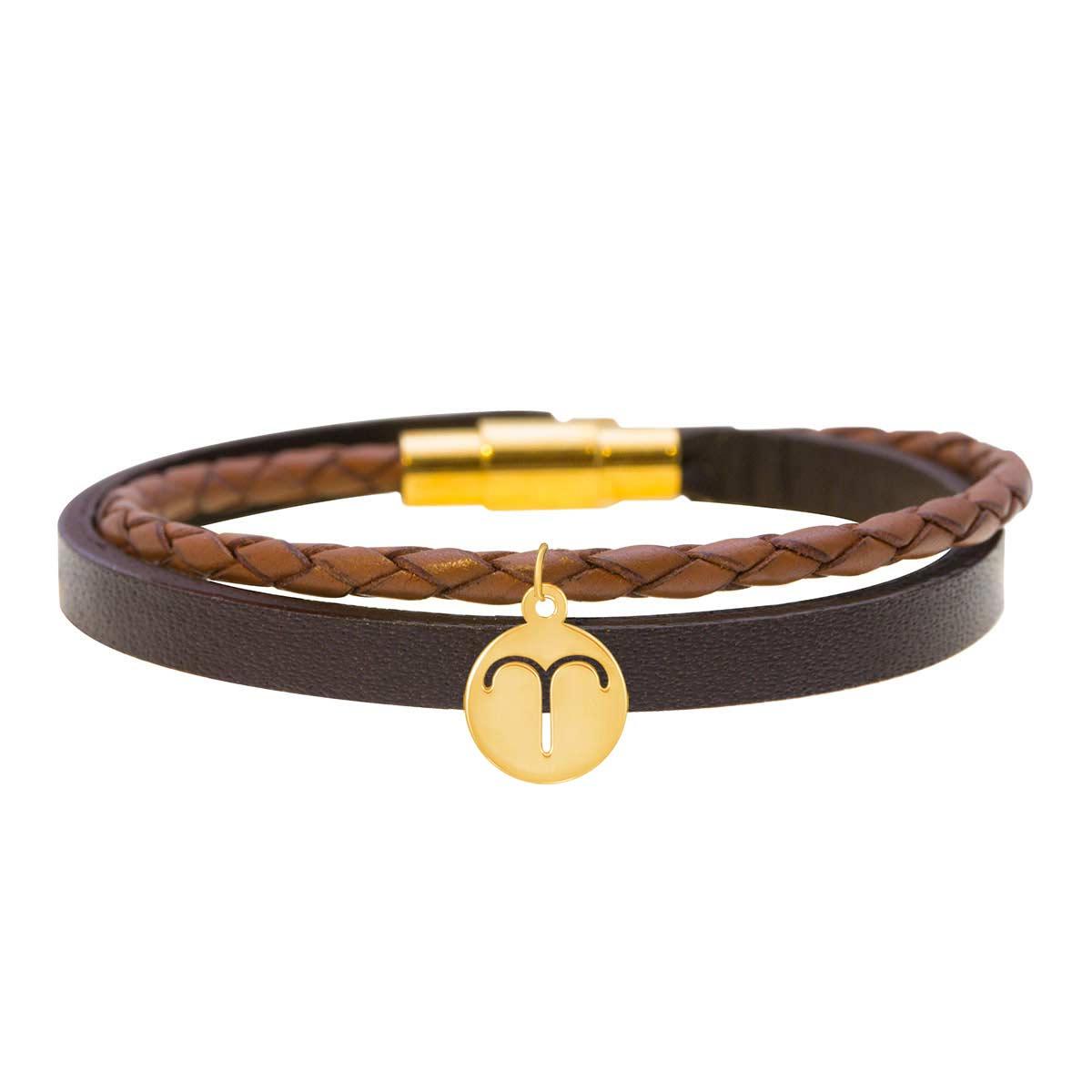 دستبند طلا نماد ماه فروردین