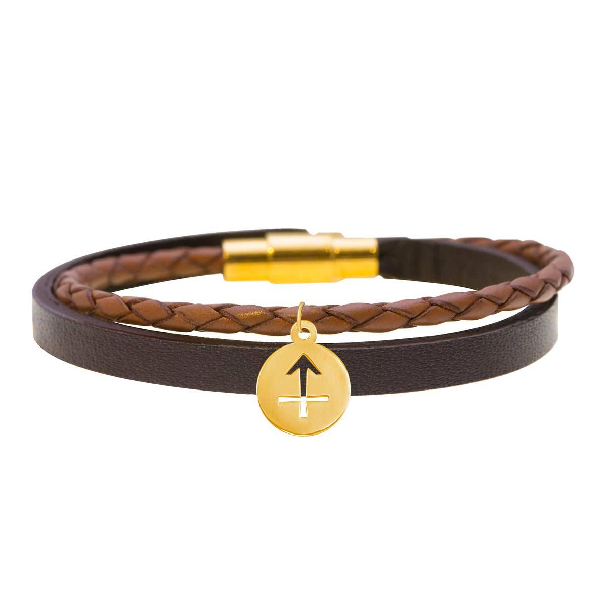 دستبند طلا نماد ماه آذر پرسته