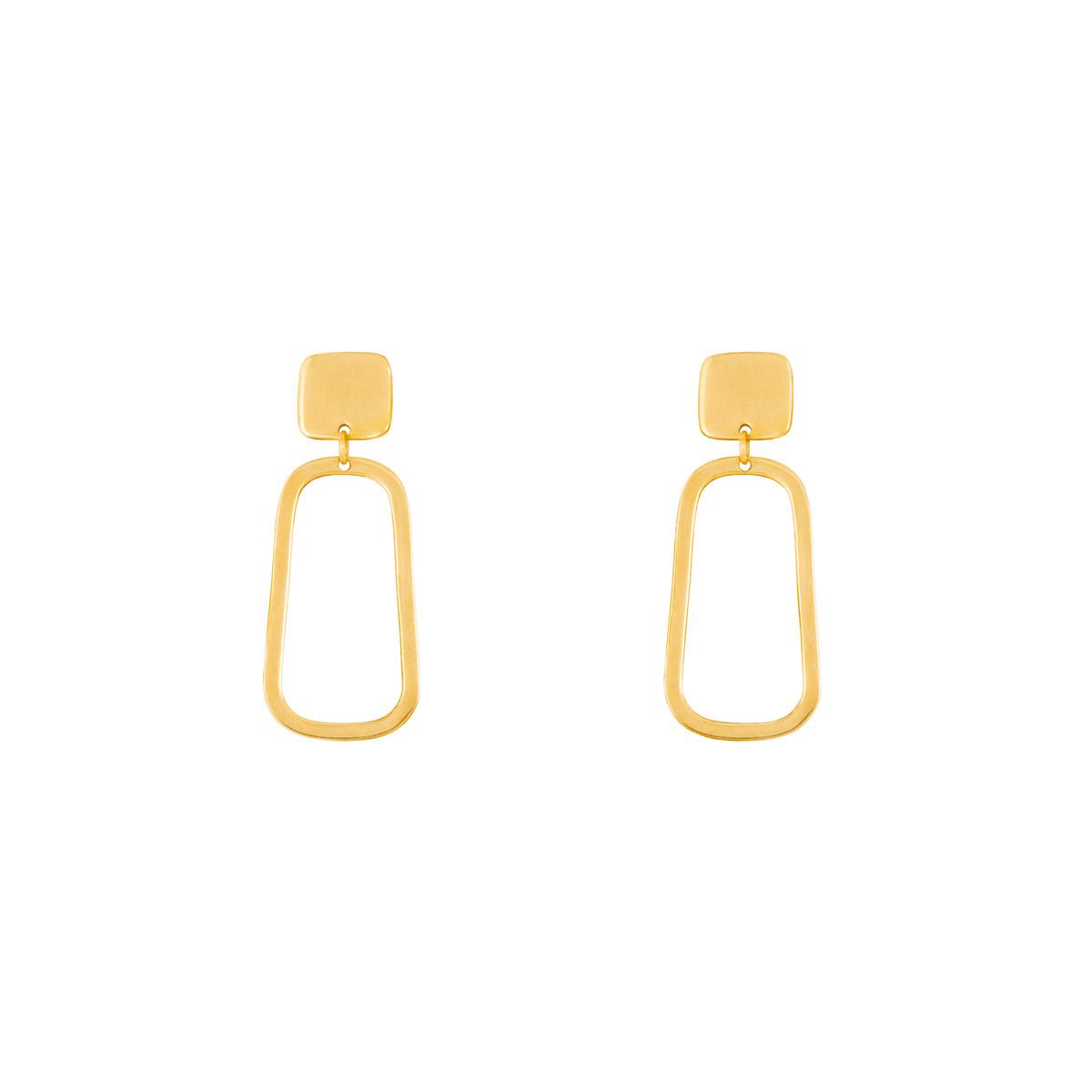 گوشواره طلا مربع | parasteh