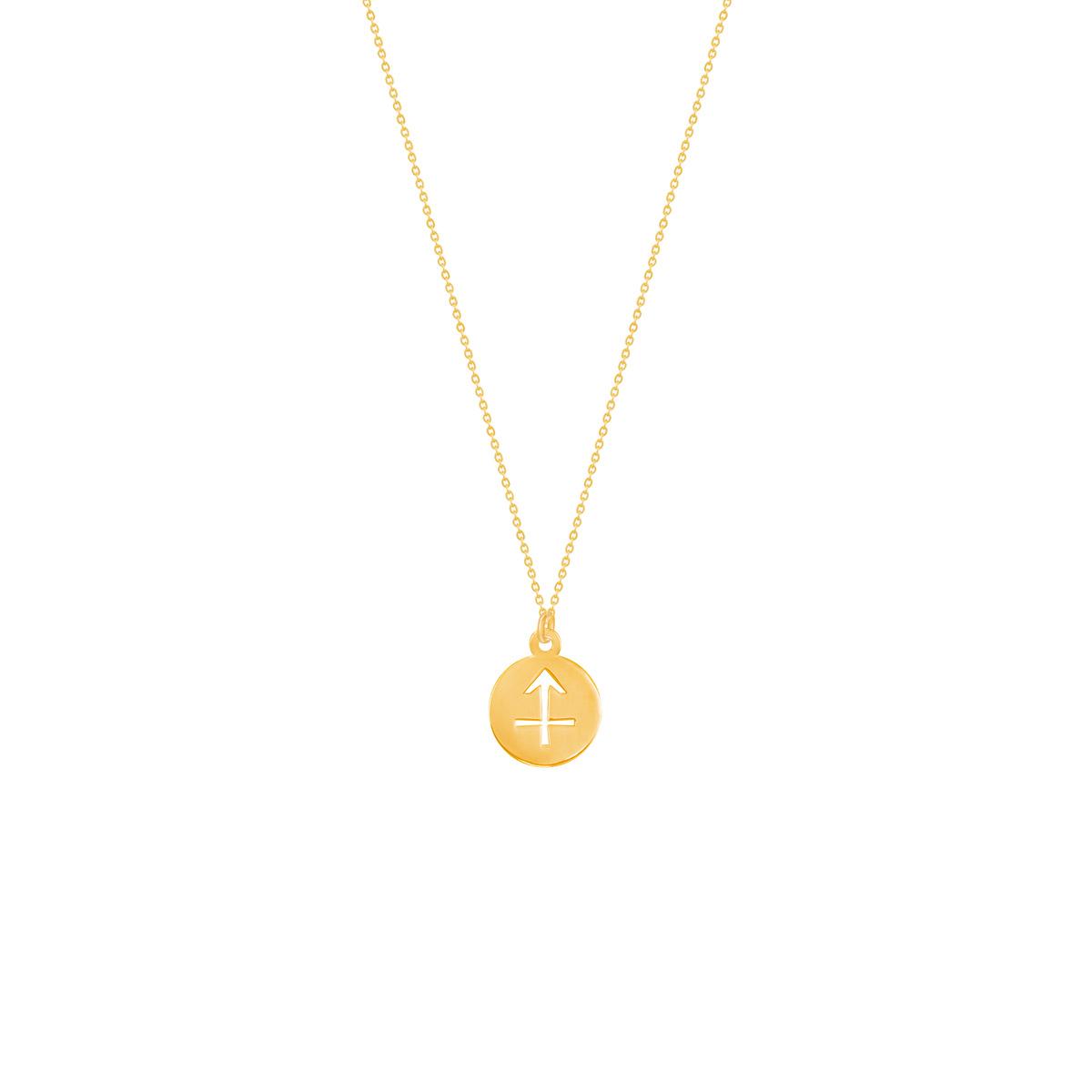 گردنبند طلا نماد ماه آذر
