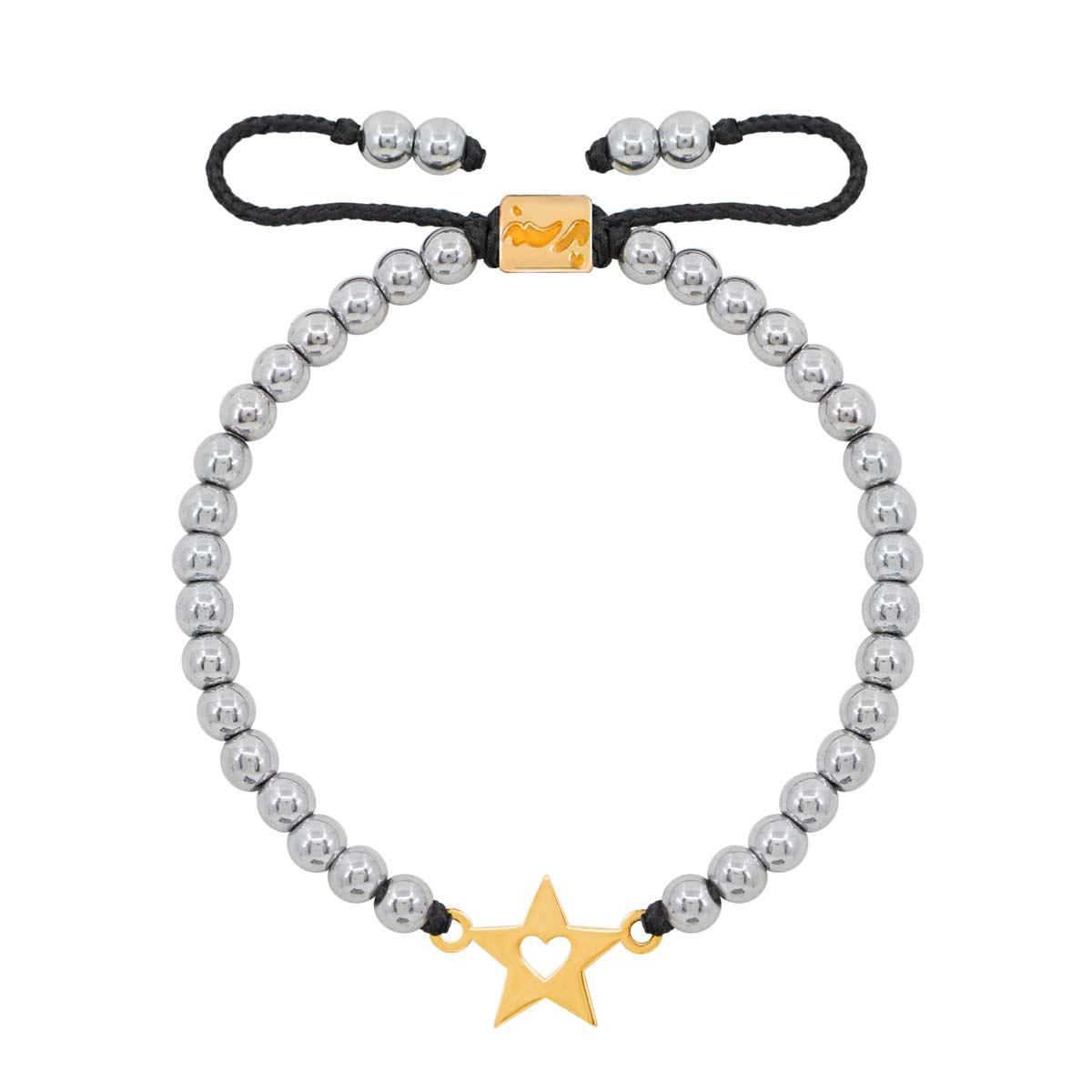 دستبند طلا ستاره و قلب