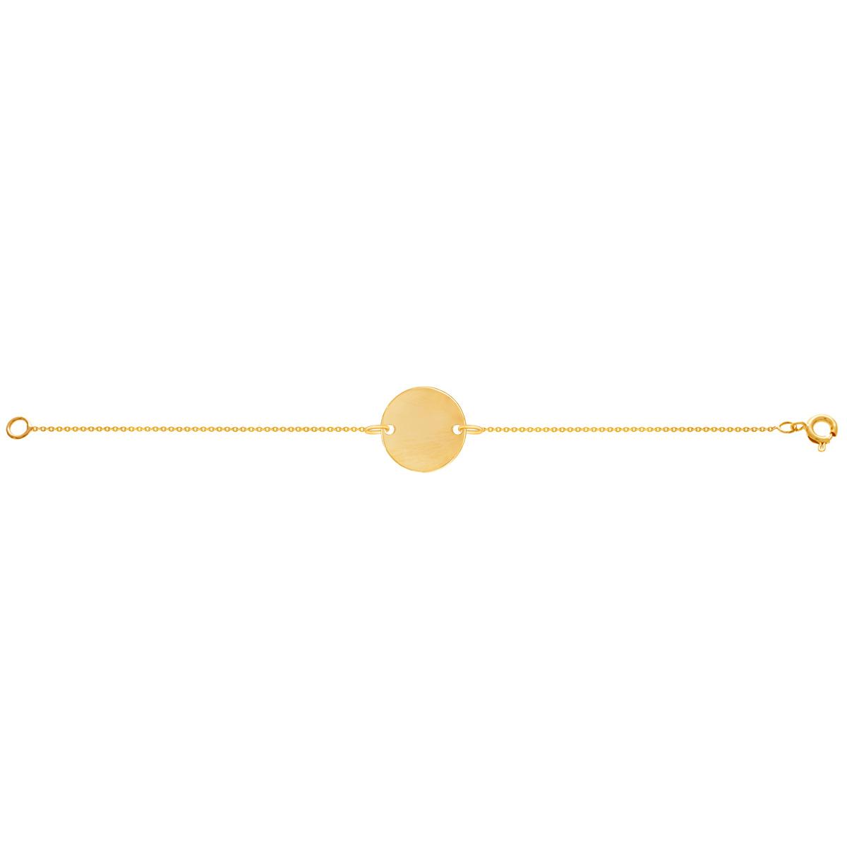 دستبند طلا دایره حکاکی