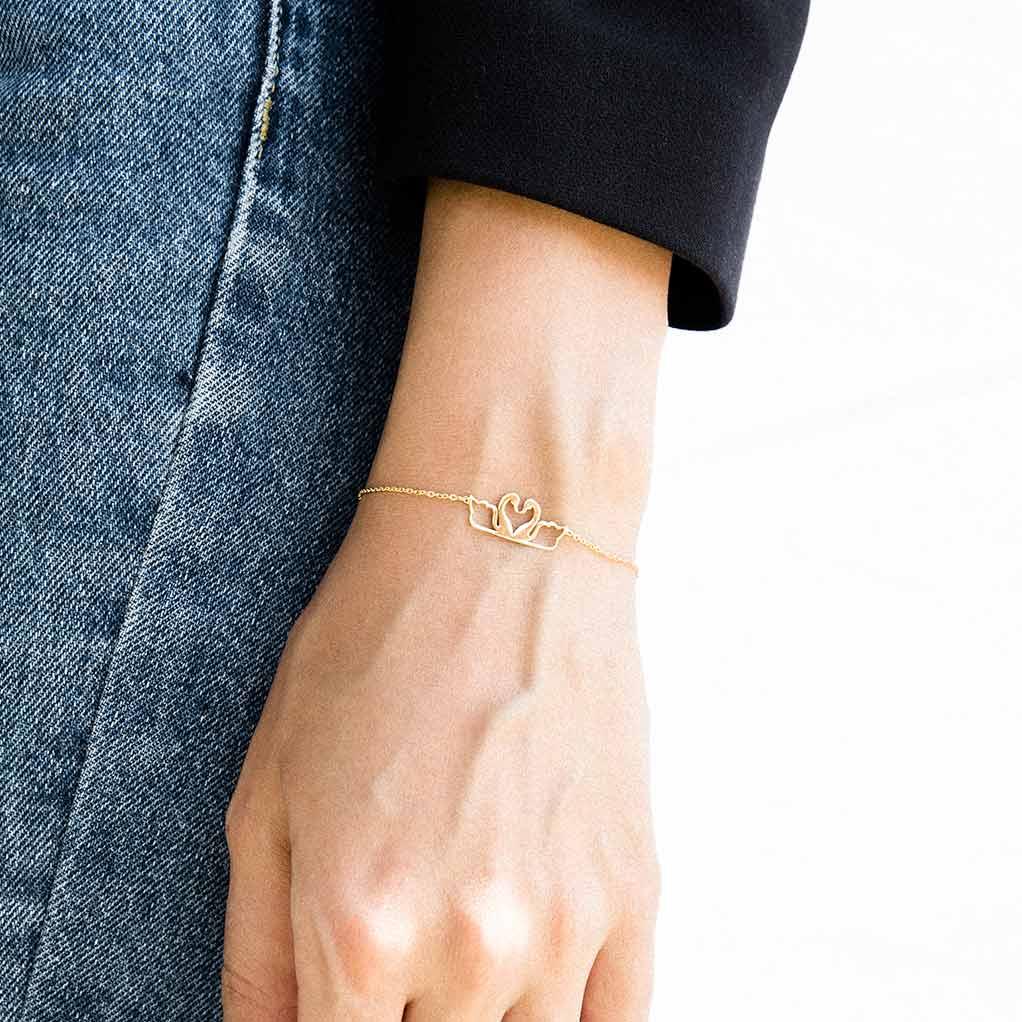 دستبند زنجیری قو پرسته