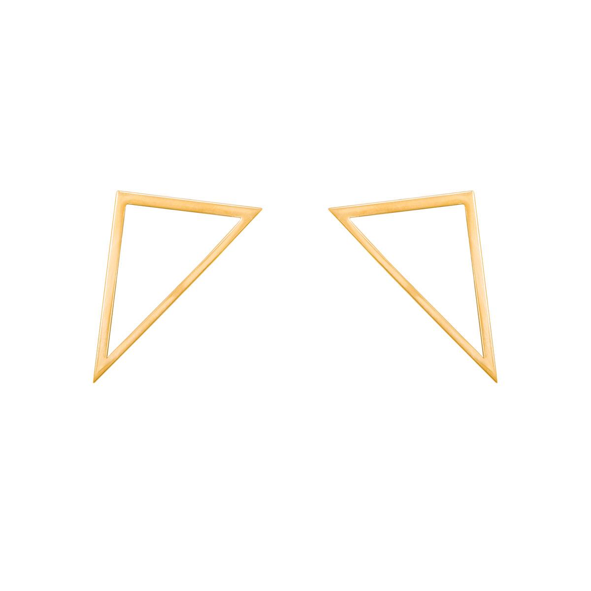 گوشواره طلا مثلث تو خالی