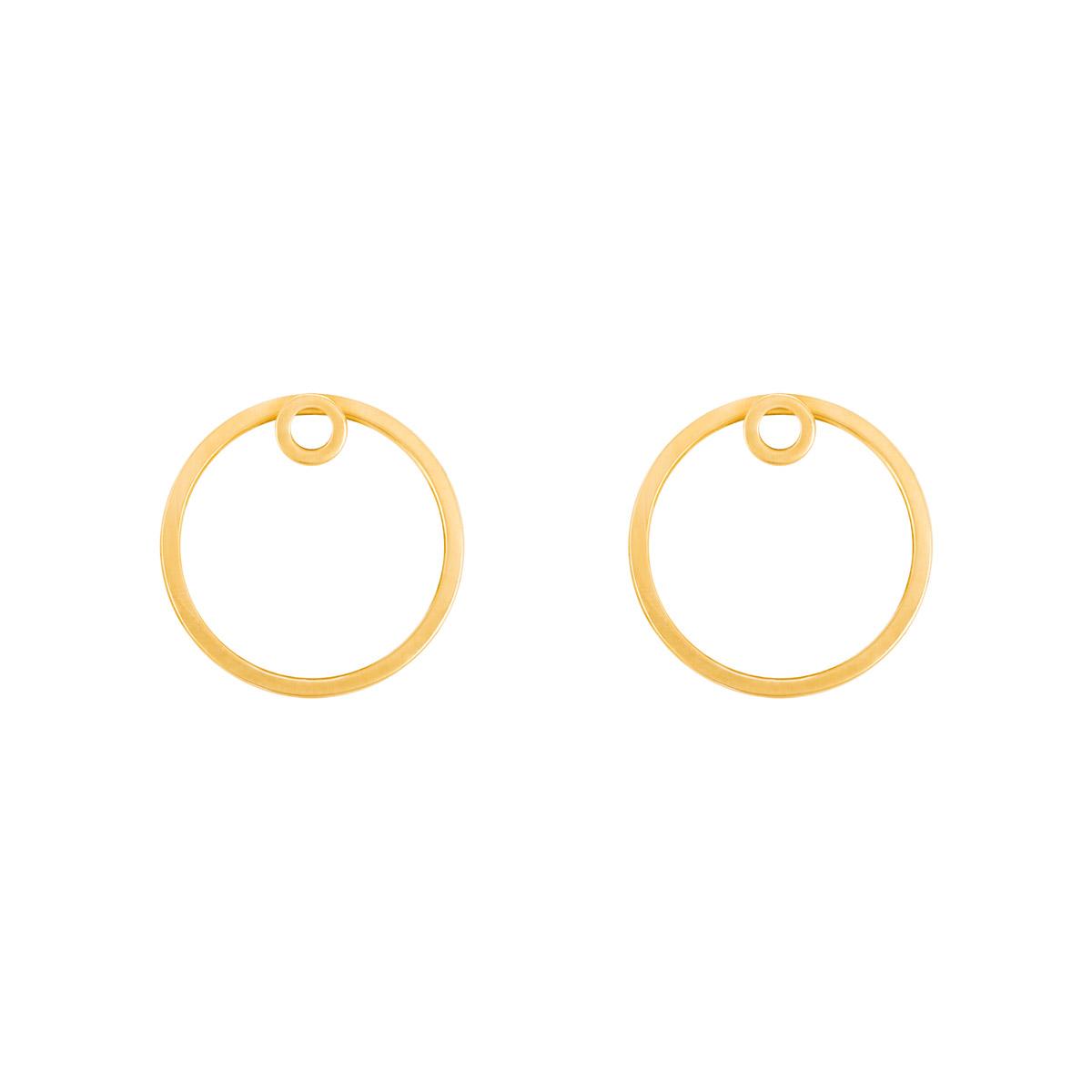 گوشواره طلا دایره توخالی بزرگ