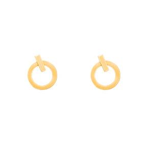 گوشواره طلا دایره کوچک