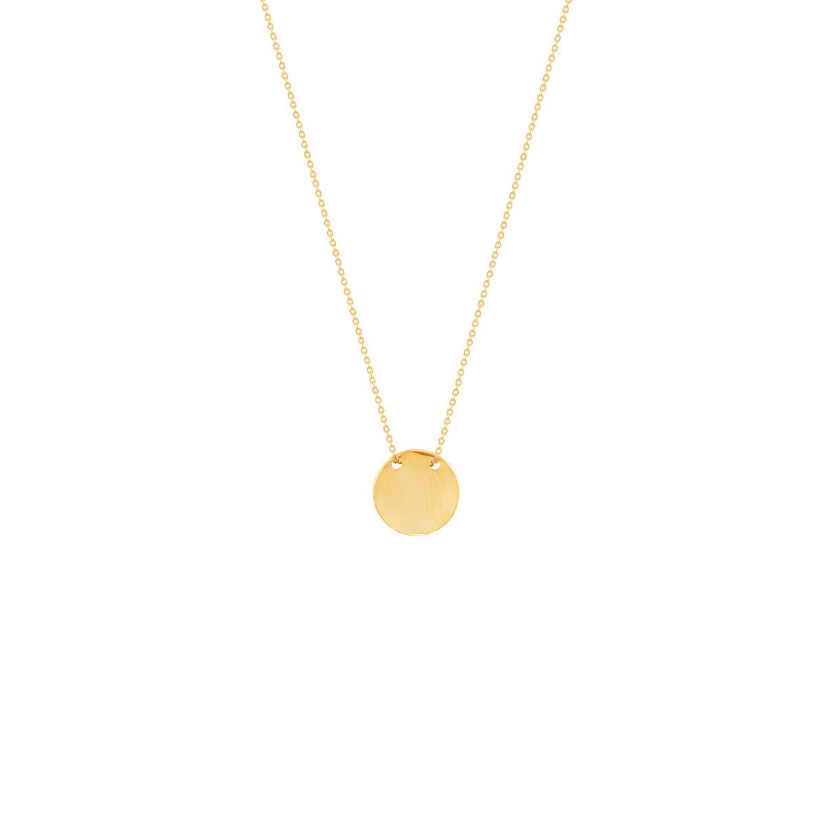 گردنبند طلا دایره حکاکی کوچک