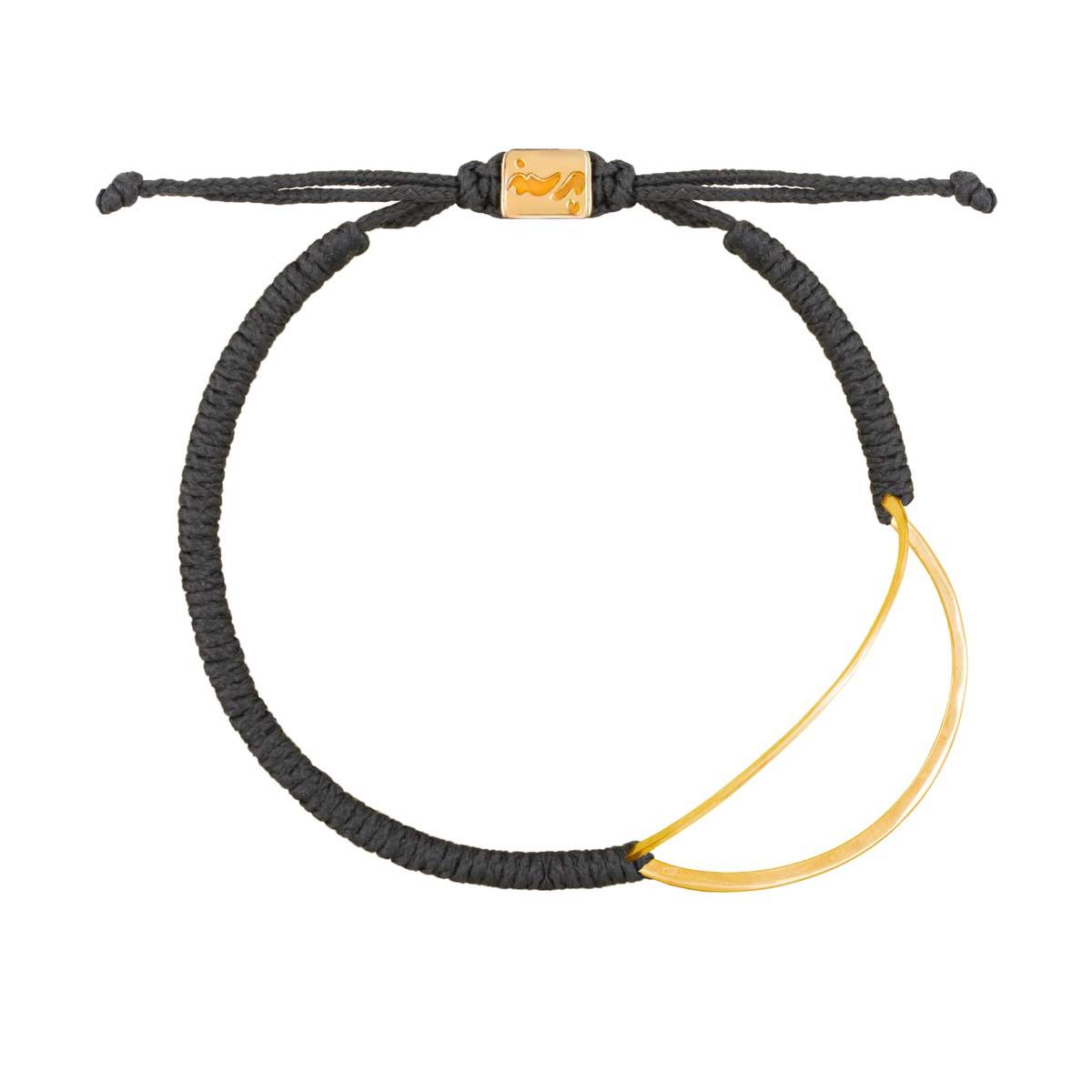 دستبند طلا منحنی