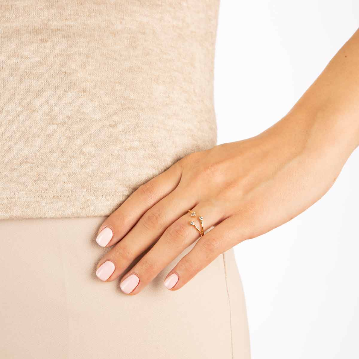 انگشتر طلا ملیسا
