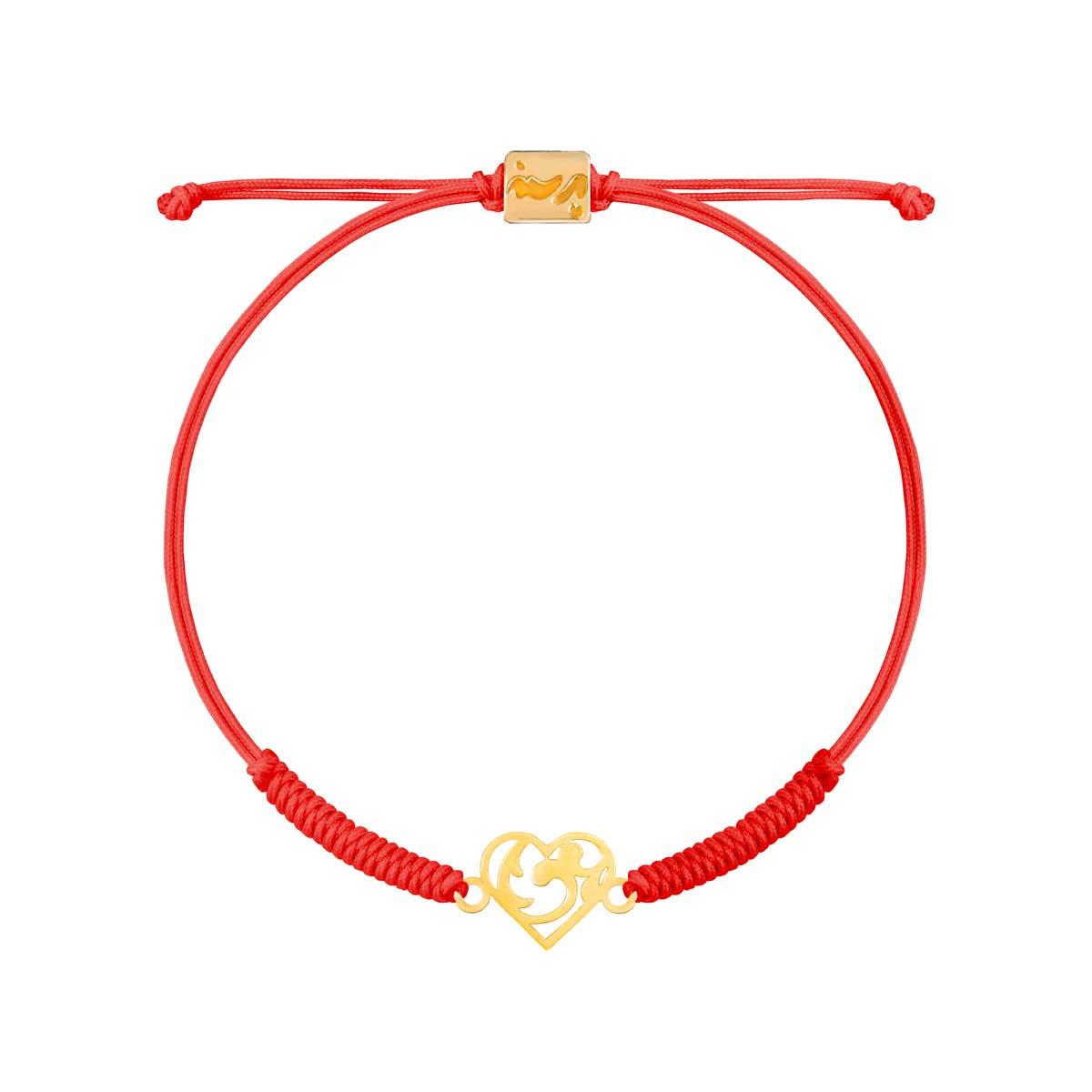 دستبند طلا قلب طرح دار |parasteh