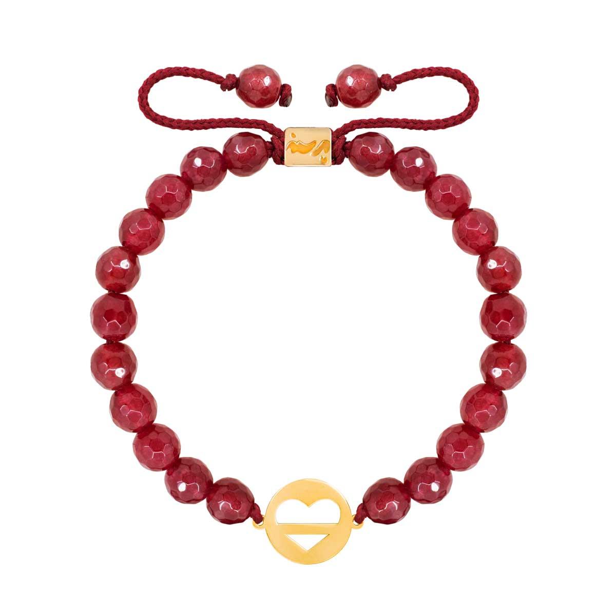 دستبند طلا قلب و خط