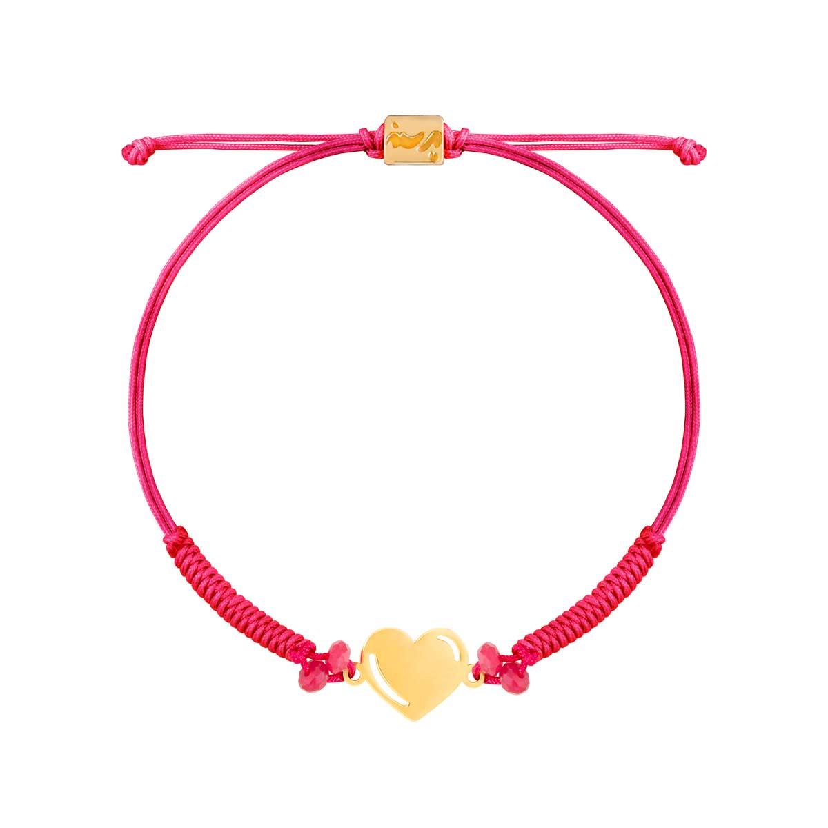 دستبند طلا بافت قلب ولنتاین