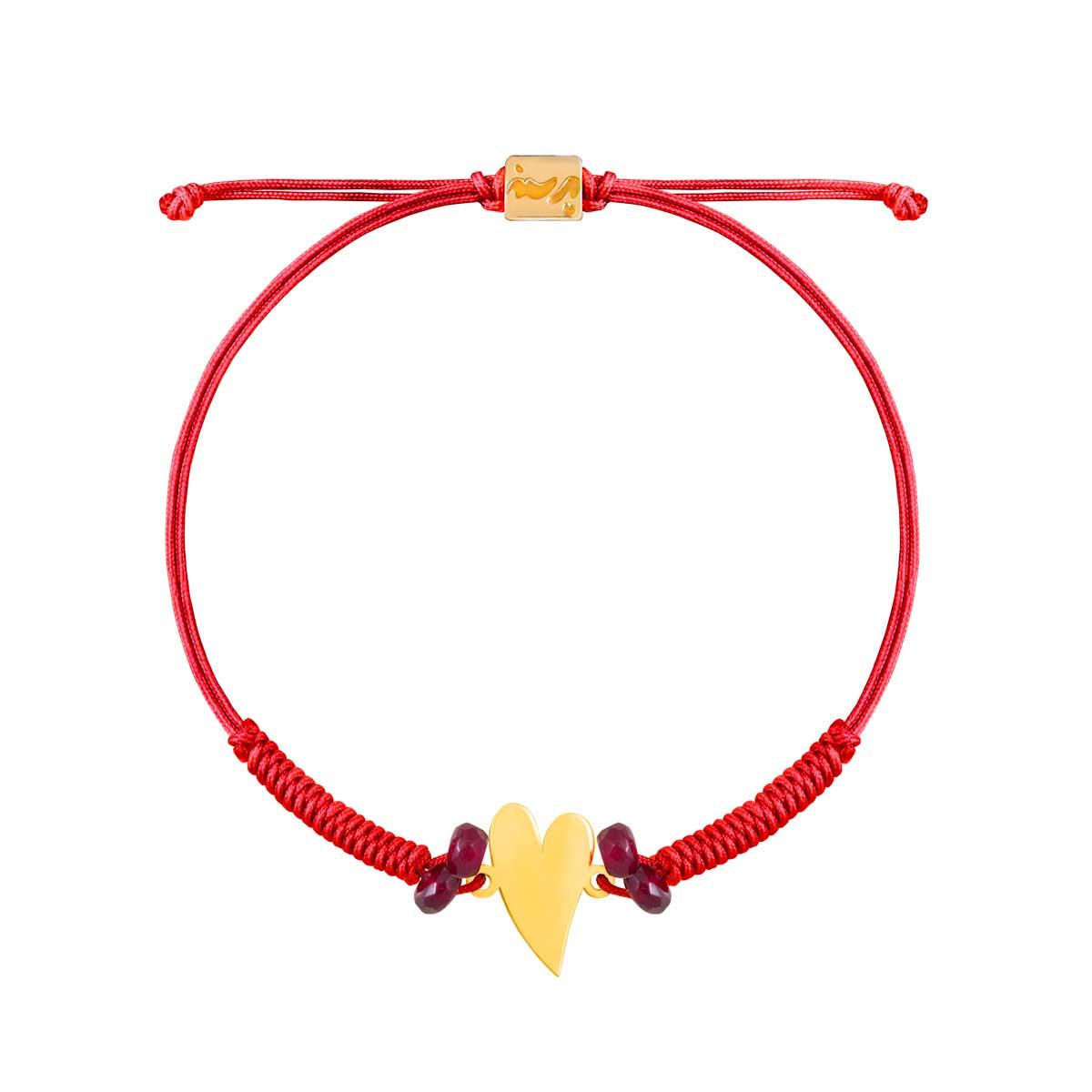 دستبند طلا بافت ولنتاین