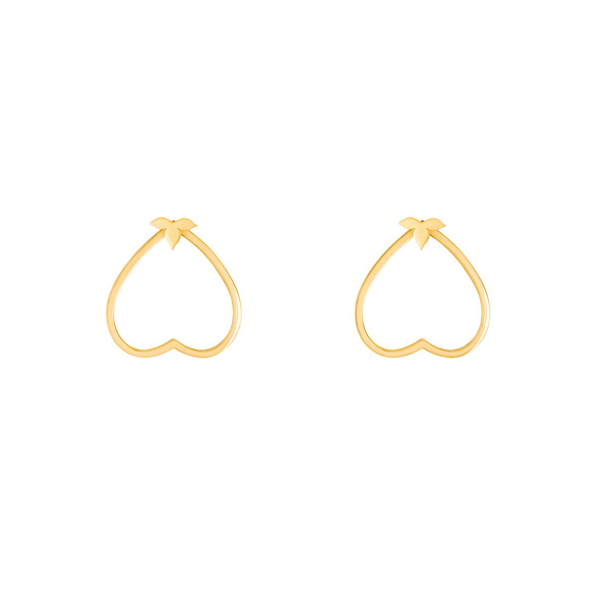 گوشواره طلا قلب و برگ