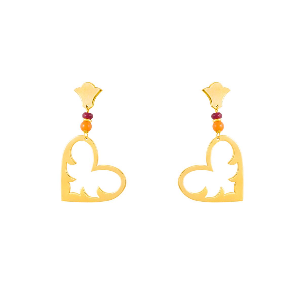 گوشواره طلا شانتی|parasteh