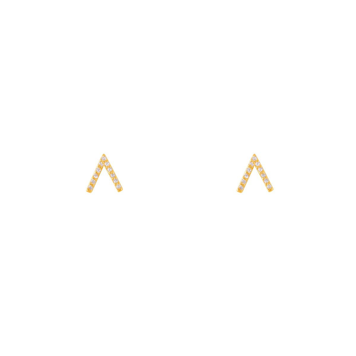 گوشواره طلا دو خط نگین دار