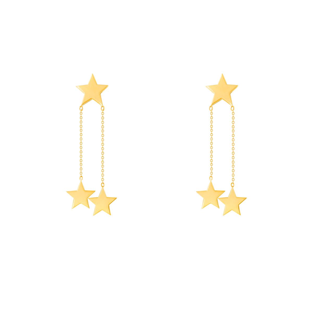 گوشواره طلا سه ستاره