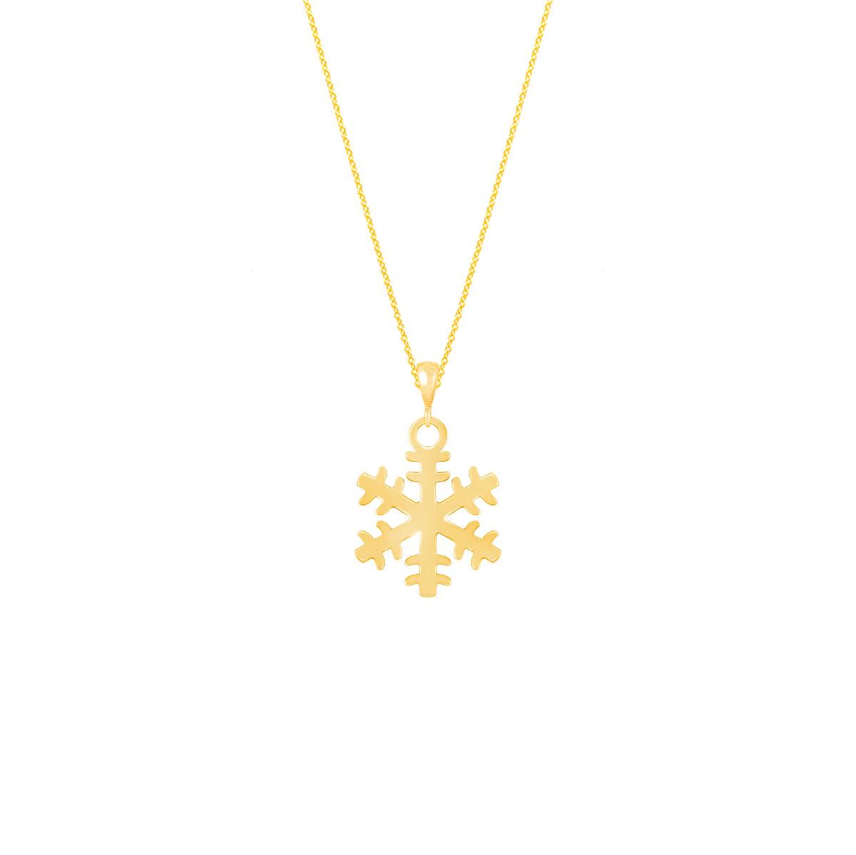 گردنبند طلا برف
