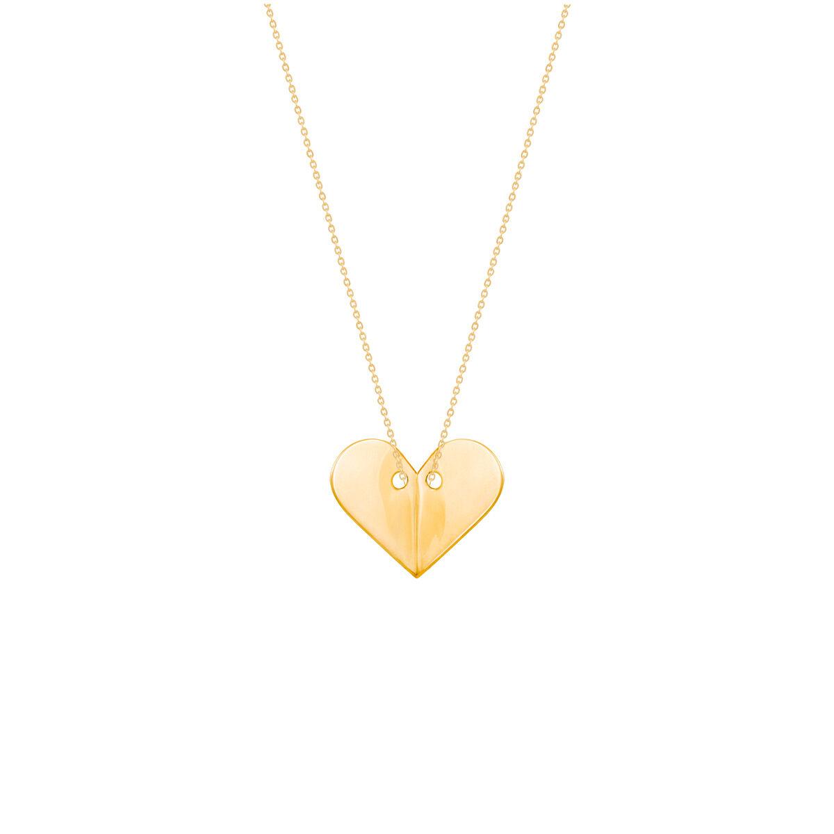 گردنبند طلا پلاک قلب پرسته  parasteh
