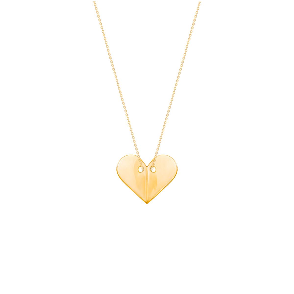 گردنبند طلا پلاک قلب پرسته |parasteh