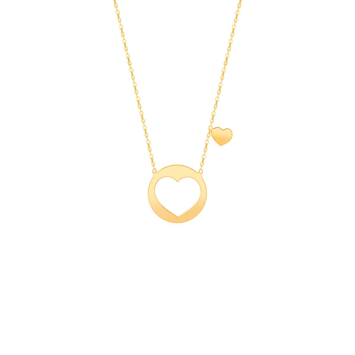 گردنبند طلا پلاک قلب بزرگ