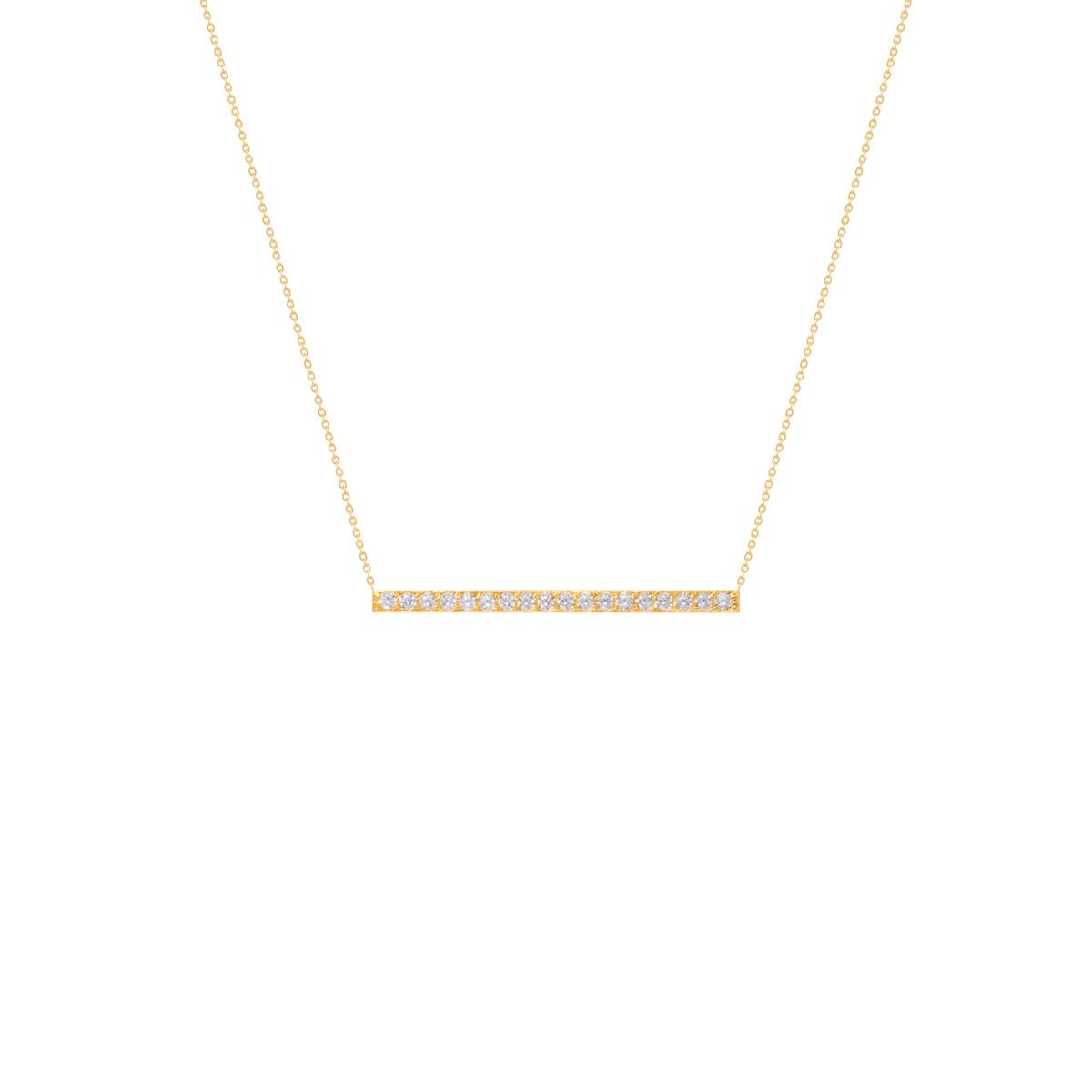 گردنبند طلا خط و نگین