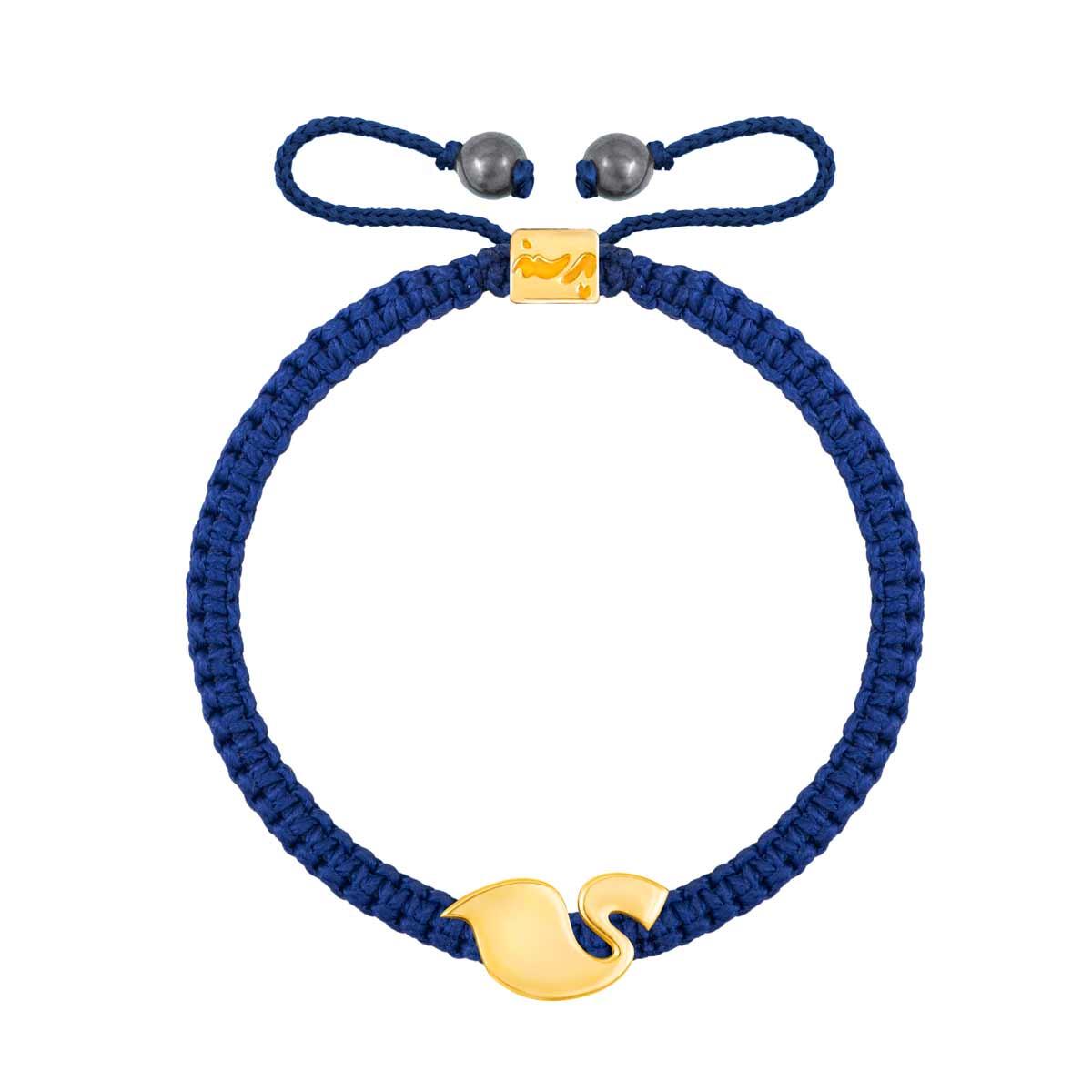 دستبند طلا بافت حرف ی