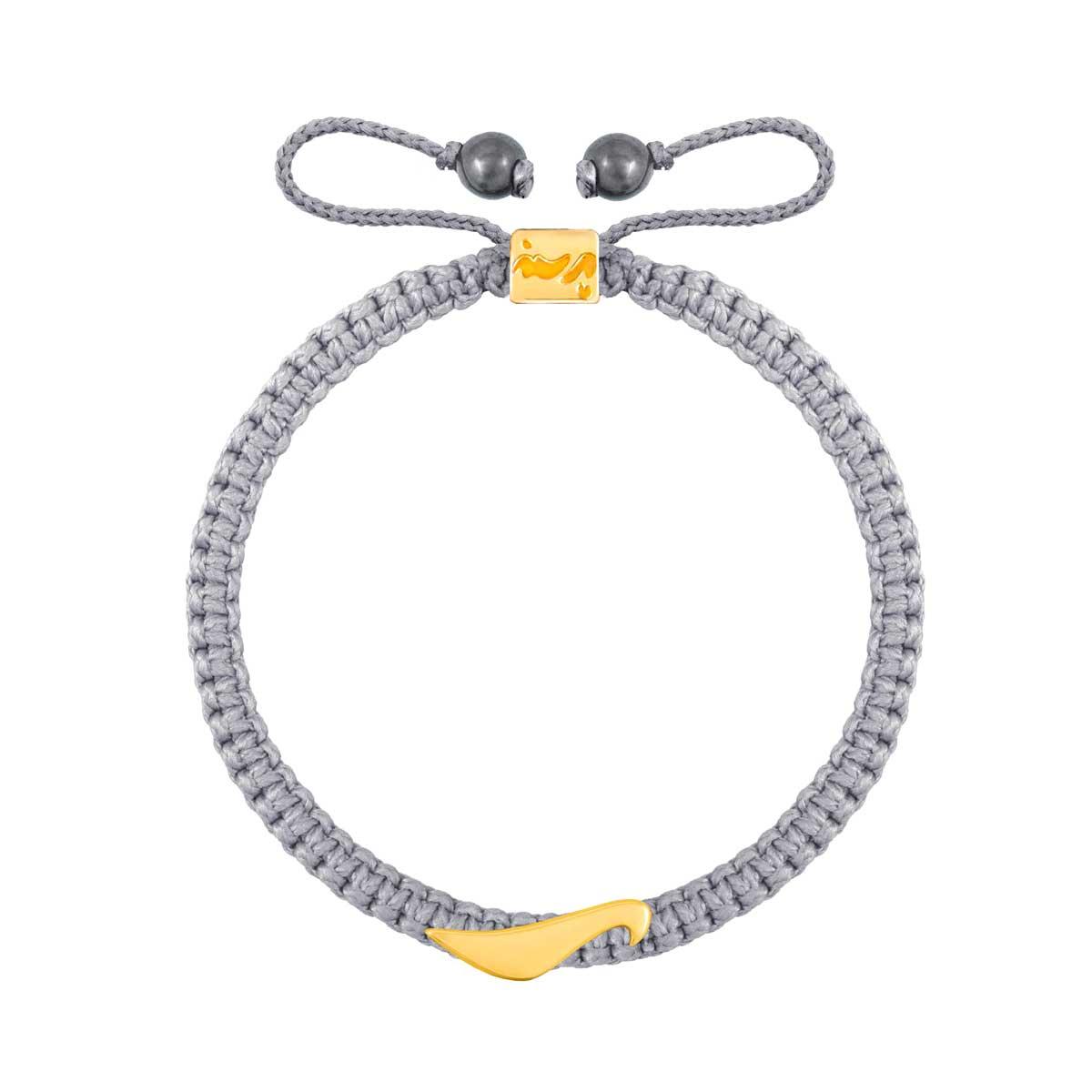 دستبند طلا بافت حرف ر