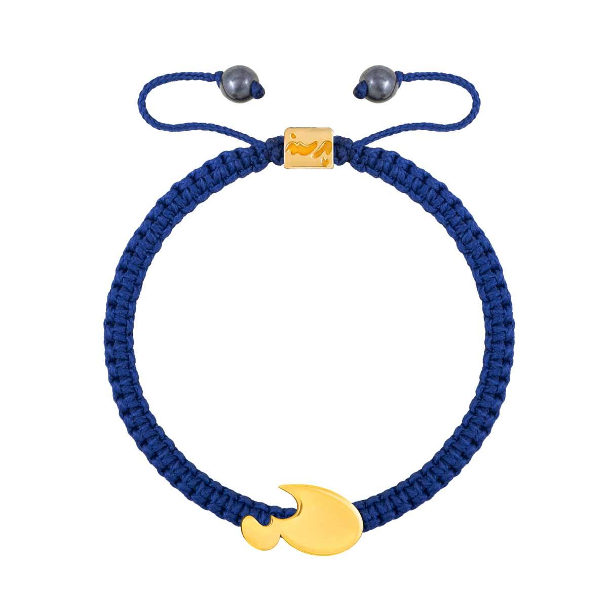 دستبند طلا حرف ع |parasteh
