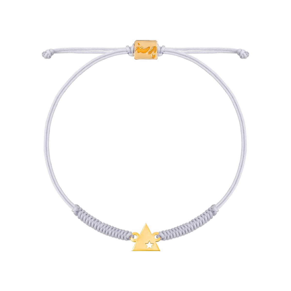 دستبند طلا بافت مثلث ستاره دار |parasteh