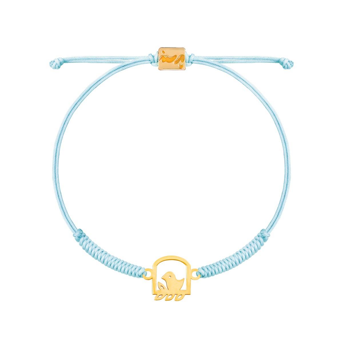 دستبند طلا بافت گنجشک |parasteh