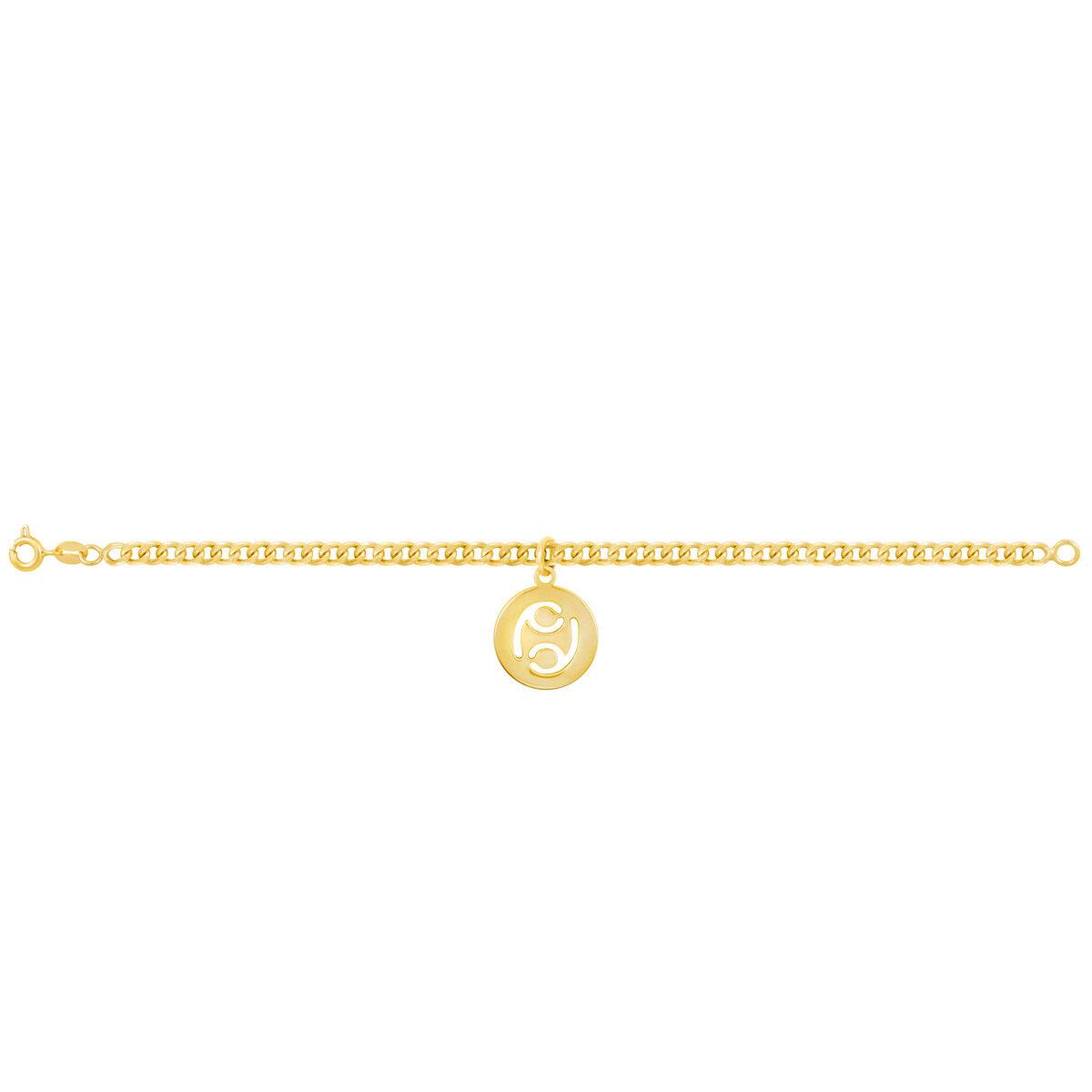 دستبند طلا نماد ماه تیر |parasteh