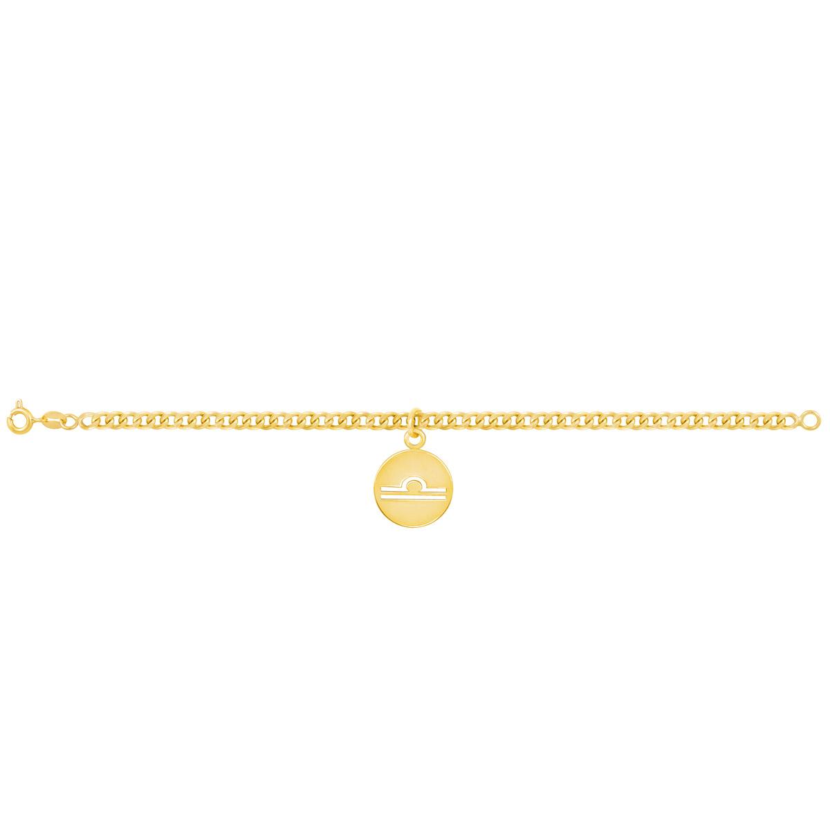 دستبند طلا نماد ماه مهر |parasteh