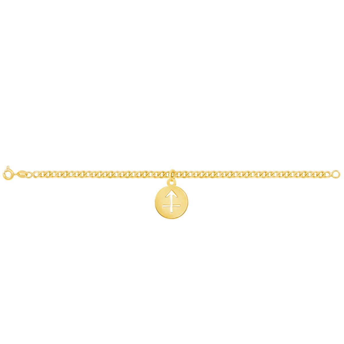 دستبند طلا نماد ماه آذر |parasteh