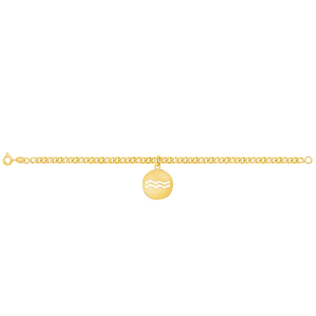 دستبند طلا نماد ماه بهمن |parasteh