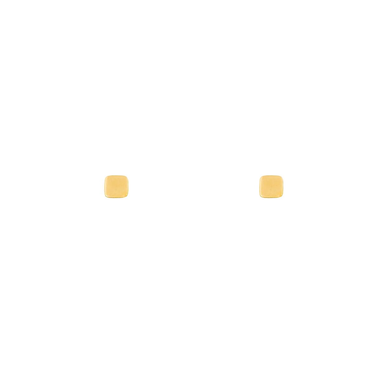 گوشواره طلا مربع کوچک