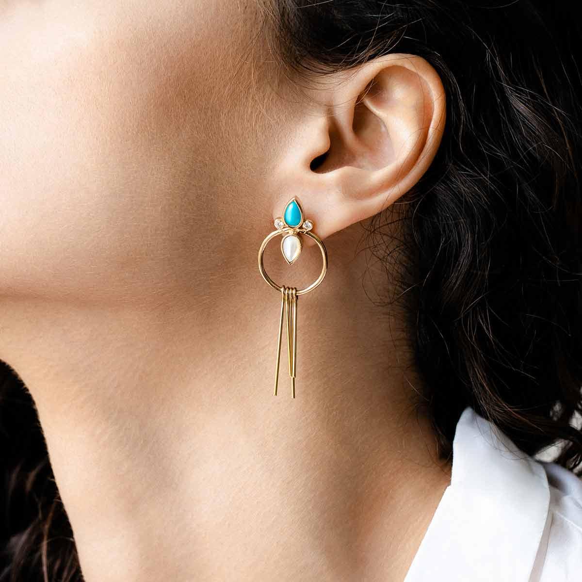 گوشواره طلا آتنا (الهه زیبایی) پرسته