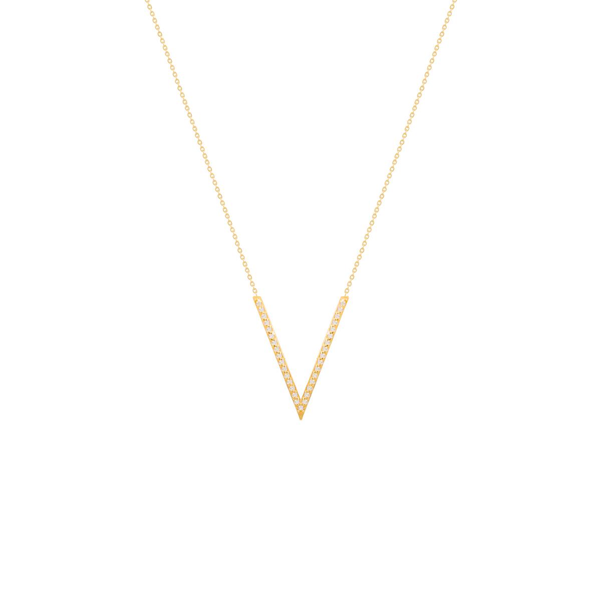 گردنبند طلا دو خط نگین دار |parasteh