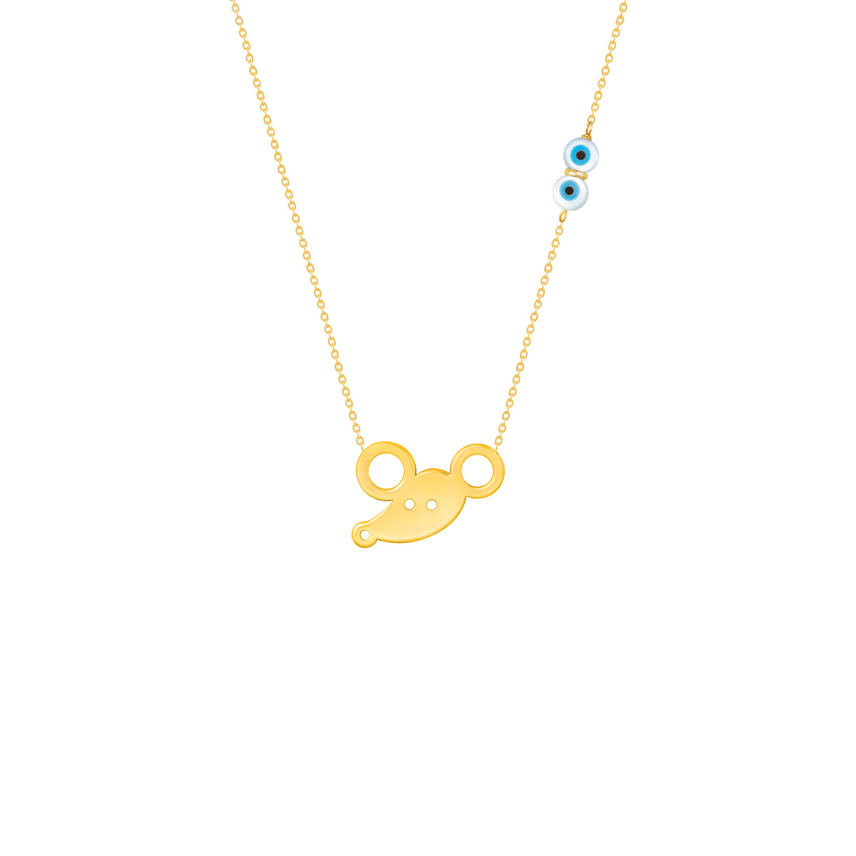 گردنبند طلا پسرانه موش |parasteh
