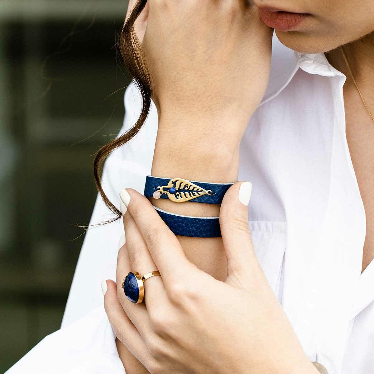 دستبند طلا سرو مهر پرسته