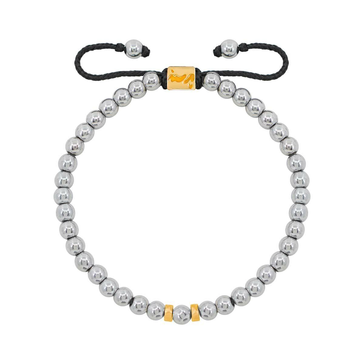 دستبند طلا دو مهره |parasteh