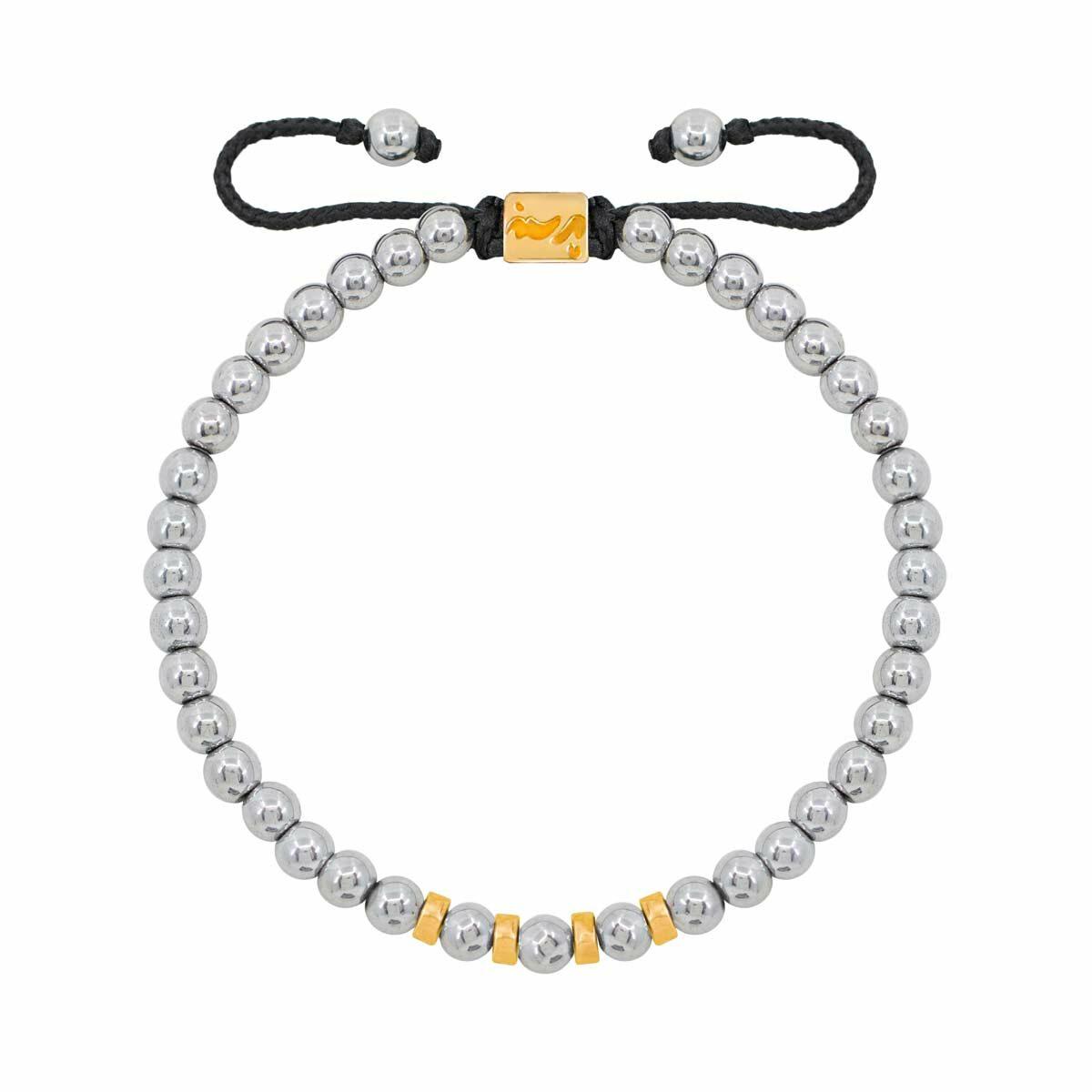 دستبند طلا چهار مهره |parasteh
