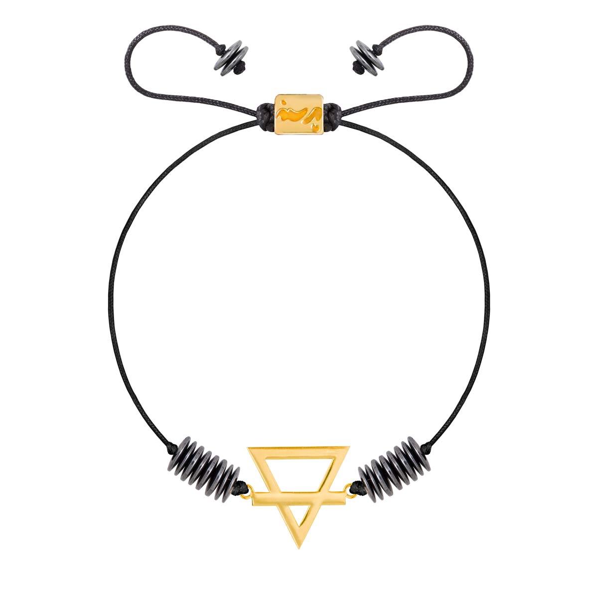 دستبند طلا عنصر خاک کوچک|parasteh