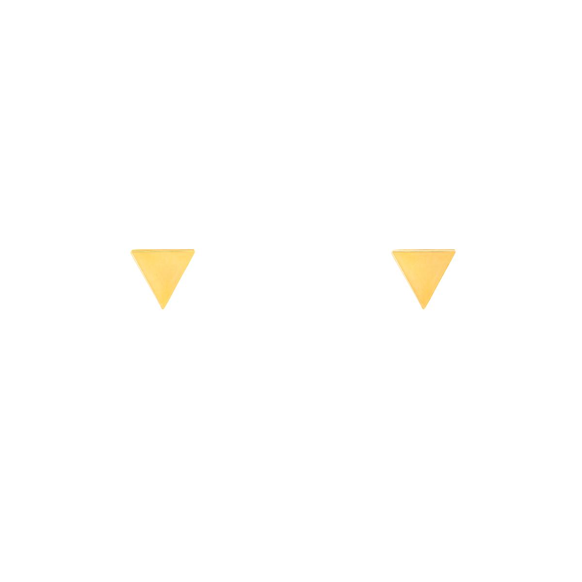 گوشواره طلا مثلث کوچک |parasteh