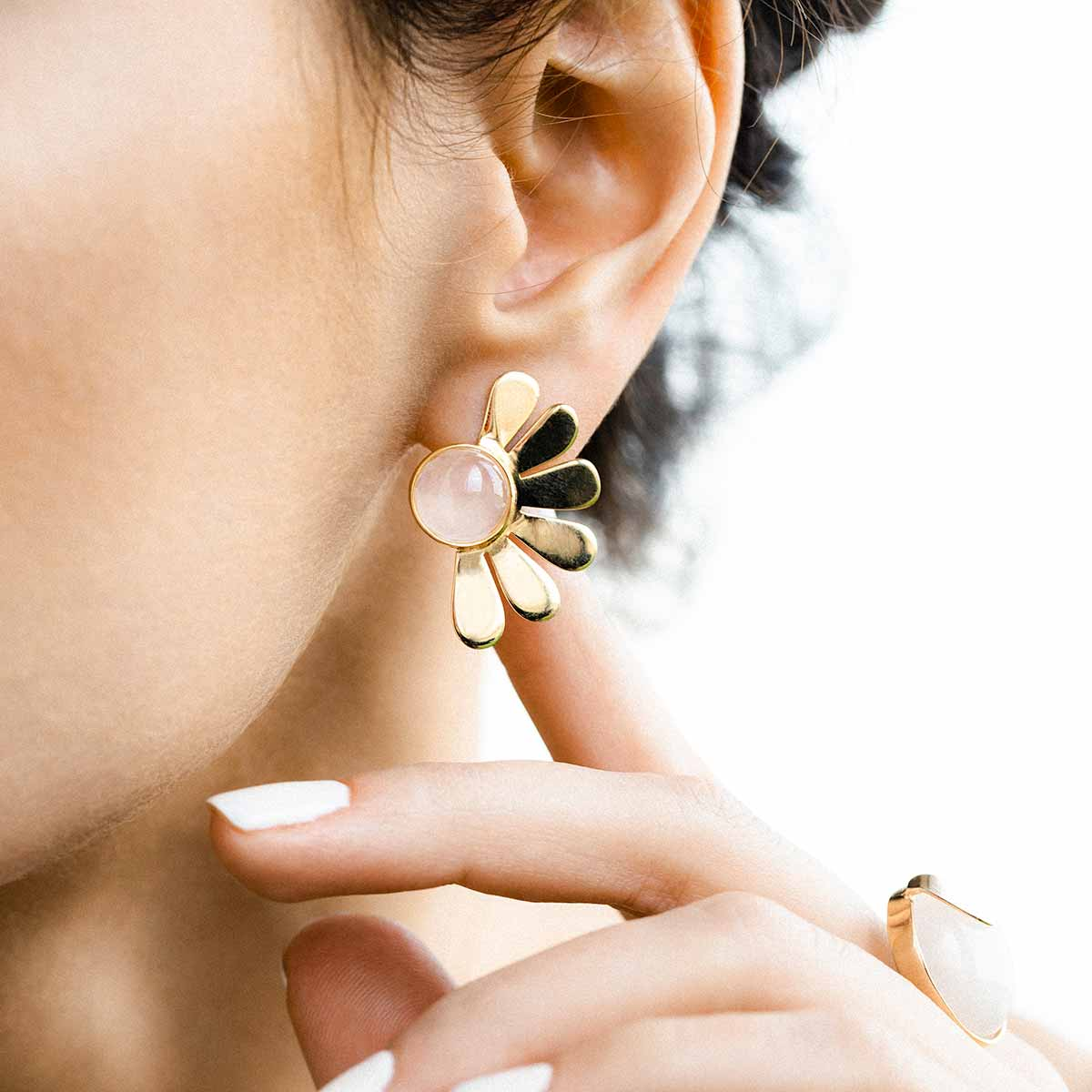 گوشواره طلا لوتوس