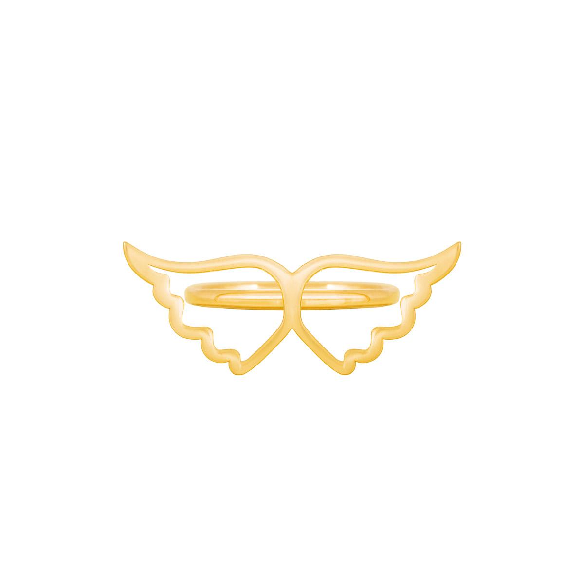 انگشتر طلا بال فرشته توخالی |parasteh