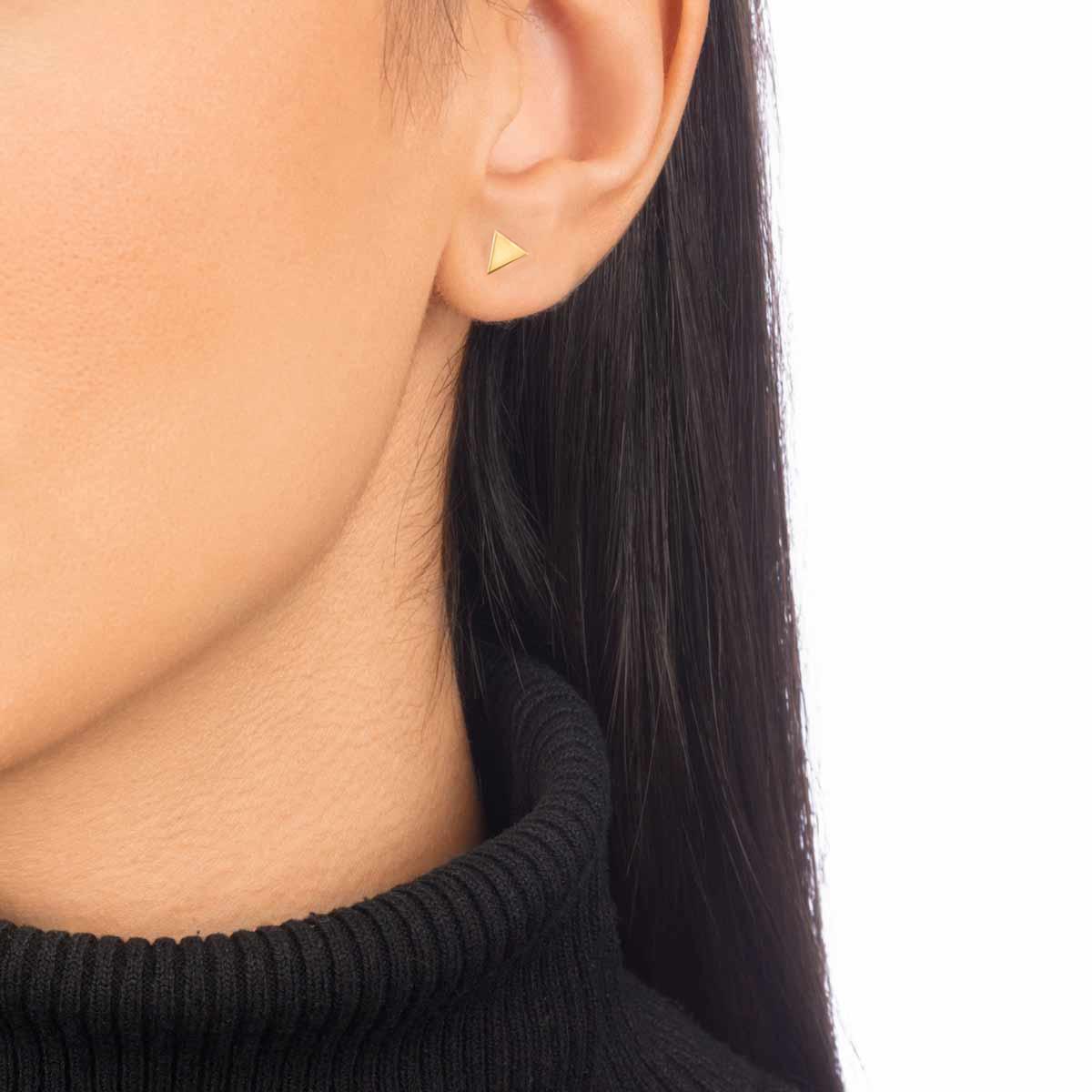گوشواره طلا مثلث کوچک