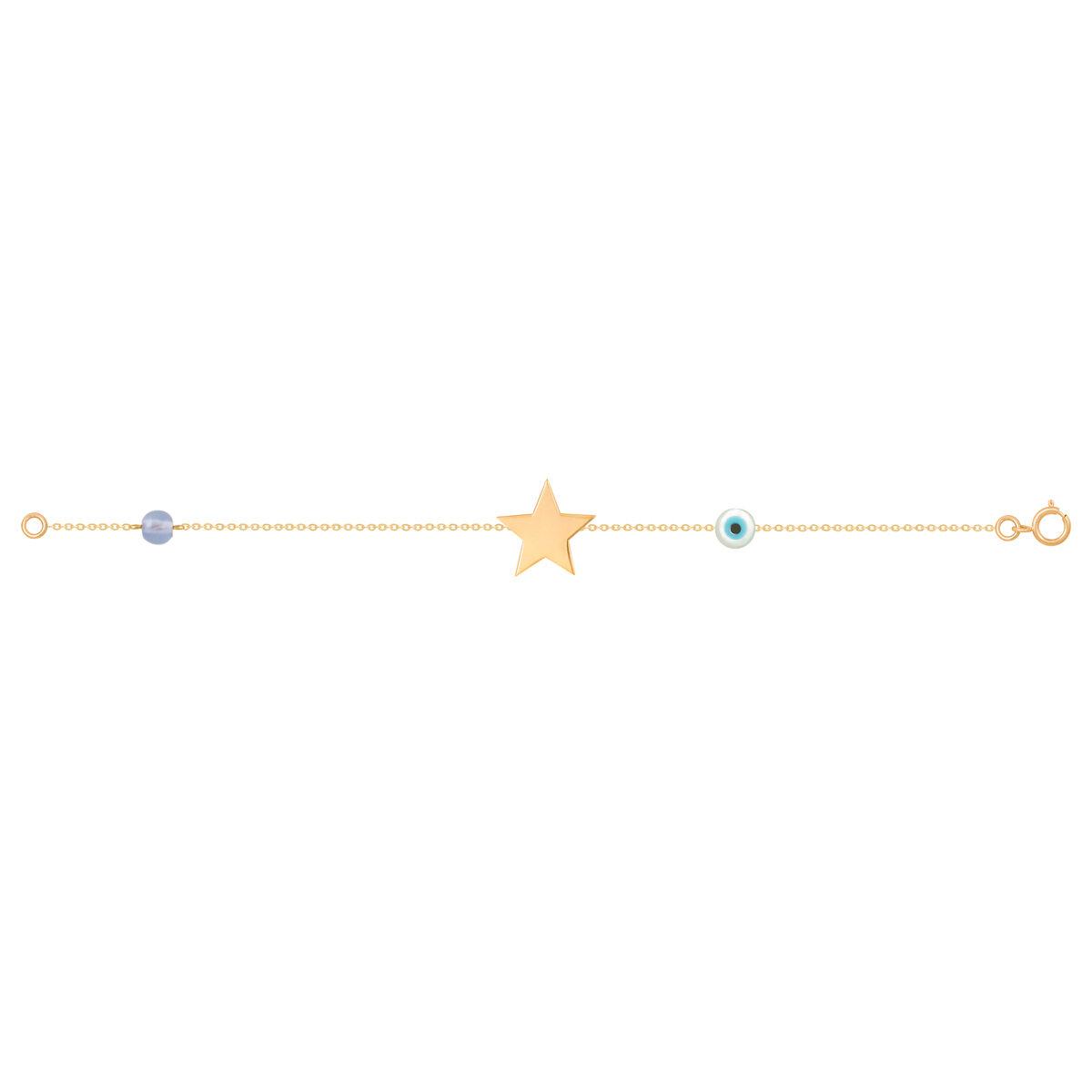 دستبند طلا دخترانه ستاره پرسته