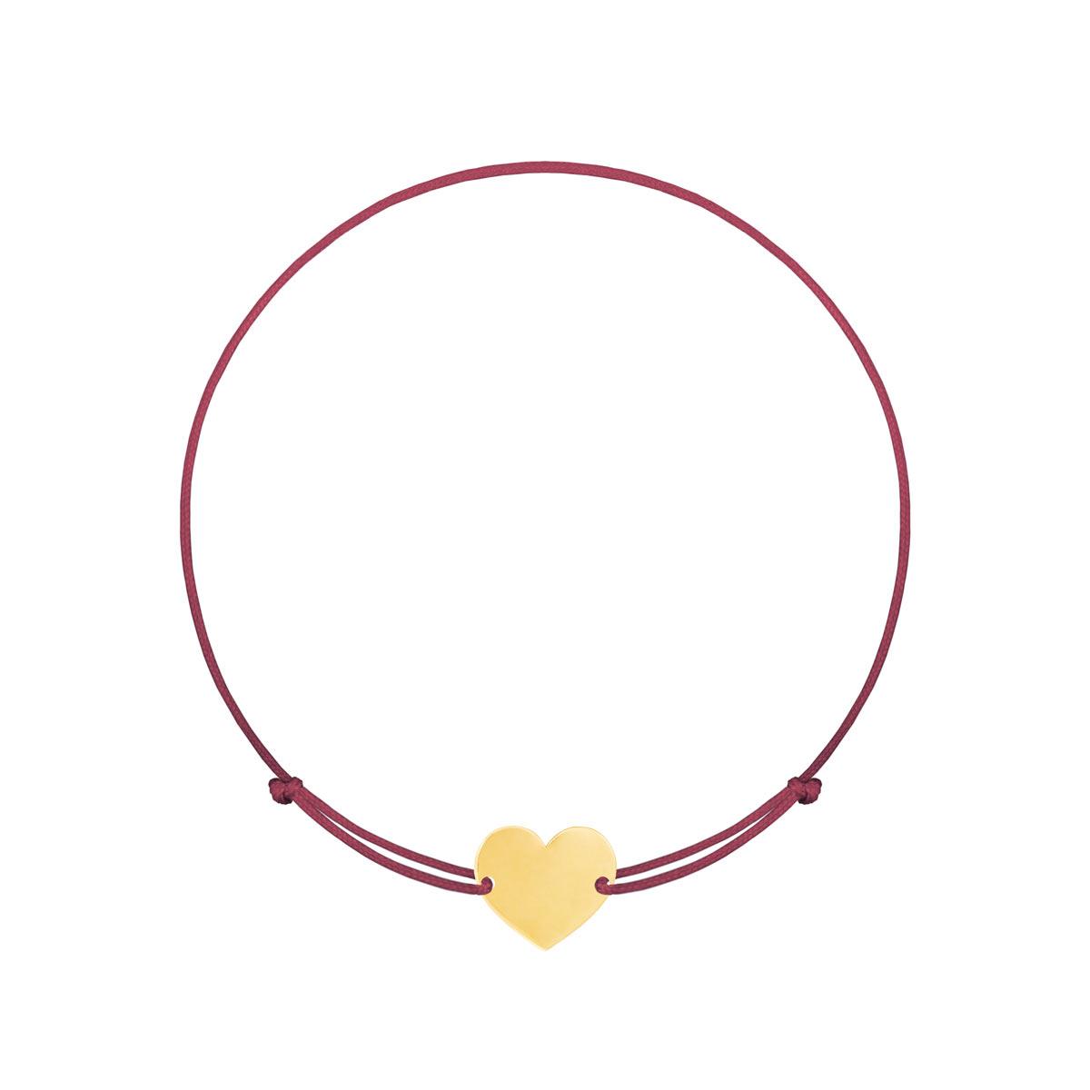 دستبند طلا قلب پرسته