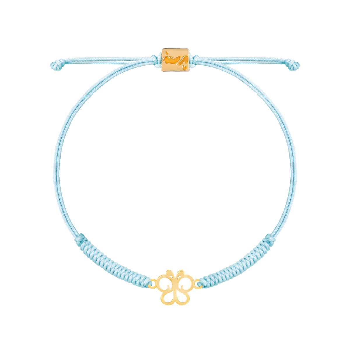 دستبند طلا دخترانه پروانه پرسته